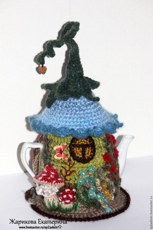 Кухня ручной работы. Ярмарка Мастеров - ручная работа. Купить чайник с грелкой ТЕРЕМОК. Handmade. Комбинированный, сказочный домик