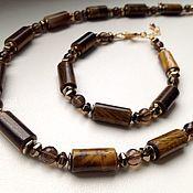 Украшения handmade. Livemaster - original item The Choker and bracelet of tiger eye and Topaz.. Handmade.