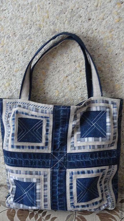 Женские сумки ручной работы. Ярмарка Мастеров - ручная работа. Купить сумка джинсовая. Handmade. Тёмно-синий, сумка женская
