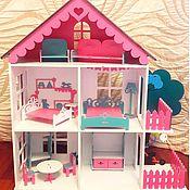 Мебель для кукол ручной работы. Ярмарка Мастеров - ручная работа Кукольный домик с мебелью. Handmade.