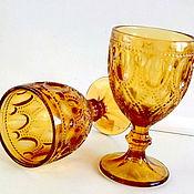 Материалы для творчества ручной работы. Ярмарка Мастеров - ручная работа Бокал для вина magestic  желтый цвет. Handmade.