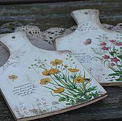Для дома и интерьера ручной работы. Ярмарка Мастеров - ручная работа доски разделочные ботаника цветы. Handmade.