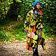 Верхняя одежда ручной работы. Арт-пальто Tropic. Mongolia. Ярмарка Мастеров. Пальто без подкладки, яркое пальто, шёлк