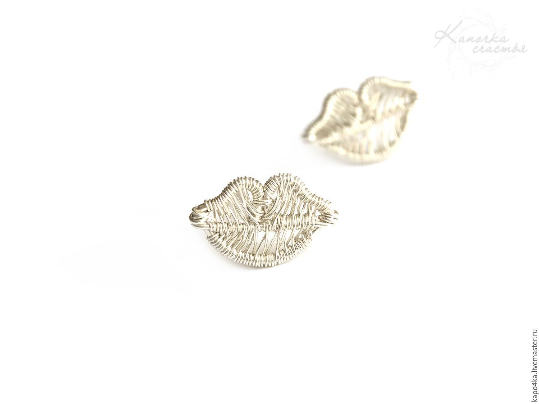 Stud earrings silver Earrings Sponge earring studs lip wire wrap ...