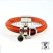 Украшения handmade. Livemaster - original item Stylish leather bracelet Art:18000184. Handmade.