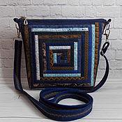 Сумки и аксессуары handmade. Livemaster - original item Patchwork Bag, Evening, Patchwork, Ethno, Boho, Blue. Handmade.