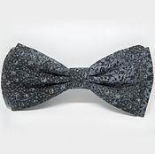 Аксессуары handmade. Livemaster - original item Bow tie in grey floret. Handmade.