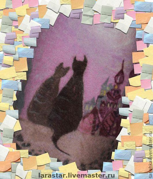 """Платья ручной работы. Ярмарка Мастеров - ручная работа. Купить Платье """"Кошки на крыше"""". Handmade. Сиреневый, кашемир, меринос, кашемир"""
