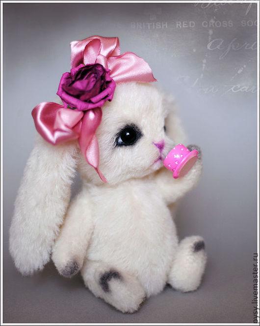 Мишки Тедди ручной работы. Ярмарка Мастеров - ручная работа. Купить зайка Бланш. Handmade. Зайка, бело-розовый