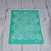 Материалы для творчества handmade. Livemaster - original item 5708 adhesive-based Stencil reusable. Handmade.