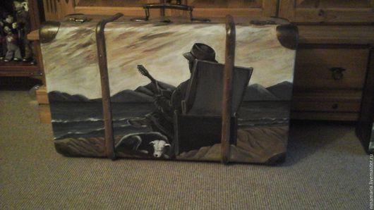 """Чемоданы ручной работы. Ярмарка Мастеров - ручная работа. Купить Старый чемодан""""Музыка моря"""". Handmade. Комбинированный"""
