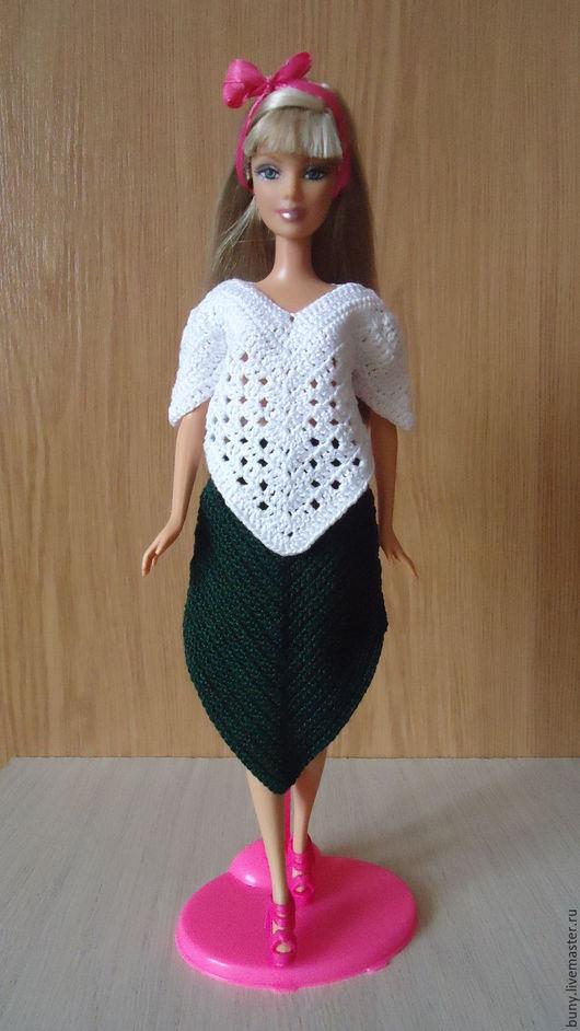 Одежда для кукол ручной работы. Ярмарка Мастеров - ручная работа. Купить Оригинальный комплект. Handmade. Белый, наряды для барби