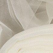 Материалы для творчества ручной работы. Ярмарка Мастеров - ручная работа Фатин средней жесткости (шир. 3м) КФ Айвори (матовый или блестящий). Handmade.
