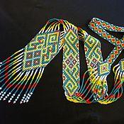 Русский стиль ручной работы. Ярмарка Мастеров - ручная работа Гердан из бисера. Handmade.
