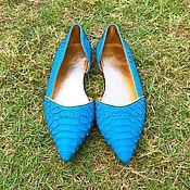 Обувь ручной работы handmade. Livemaster - original item ZODIAC Python Ballet flats. Handmade.