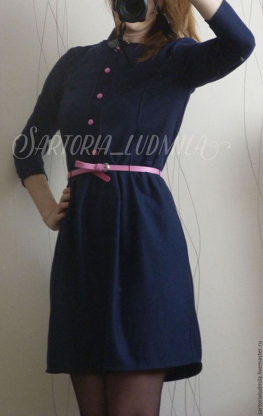 Платья ручной работы. Ярмарка Мастеров - ручная работа. Купить Платье. Handmade. Тёмно-фиолетовый, выходное платье, на заказ, трикотаж