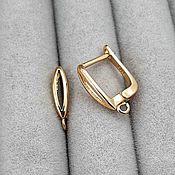 Материалы для творчества handmade. Livemaster - original item Earrings with lock 16 mm gold (3796). Handmade.