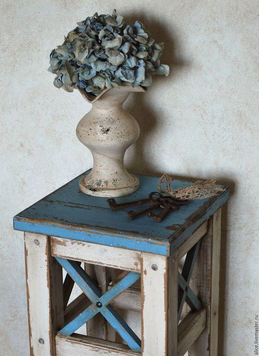 Мебель ручной работы. Ярмарка Мастеров - ручная работа. Купить ПРОВАНС жардиньерка. Handmade. Бирюзовый, для цветов