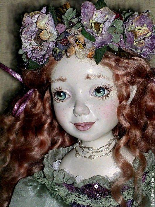 Коллекционные куклы ручной работы. Ярмарка Мастеров - ручная работа. Купить кукла Фиона Рыжая девочка с ежевикой полимерная глина. Handmade.