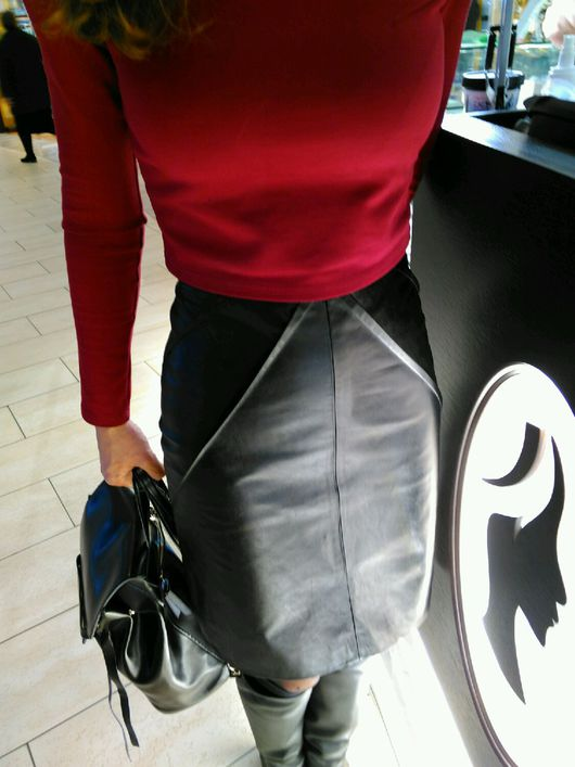 Юбки ручной работы. Ярмарка Мастеров - ручная работа. Купить Кожаная юбка. Handmade. Кожаная юбка, мини юбка из кожи
