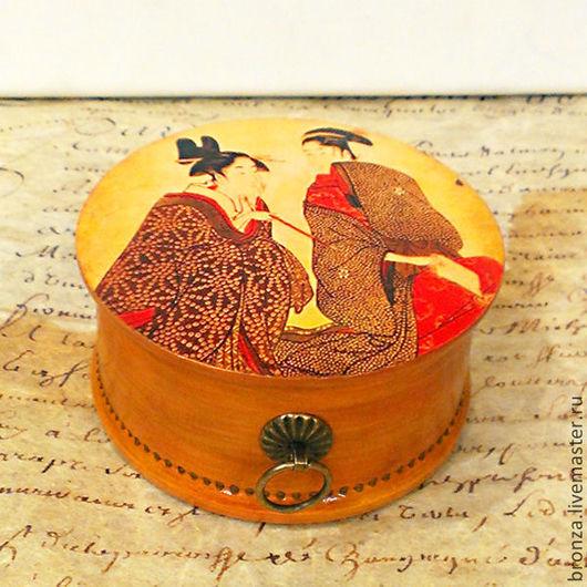 """Шкатулки ручной работы. Ярмарка Мастеров - ручная работа. Купить Шкатулочка """"Мемуары гейши"""". Handmade. Рыжий, шкатулка для специй"""
