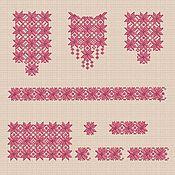 """Материалы для творчества handmade. Livemaster - original item Дизайны  машинной вышивки набор """"Монохром"""" для девочки bt084. Handmade."""