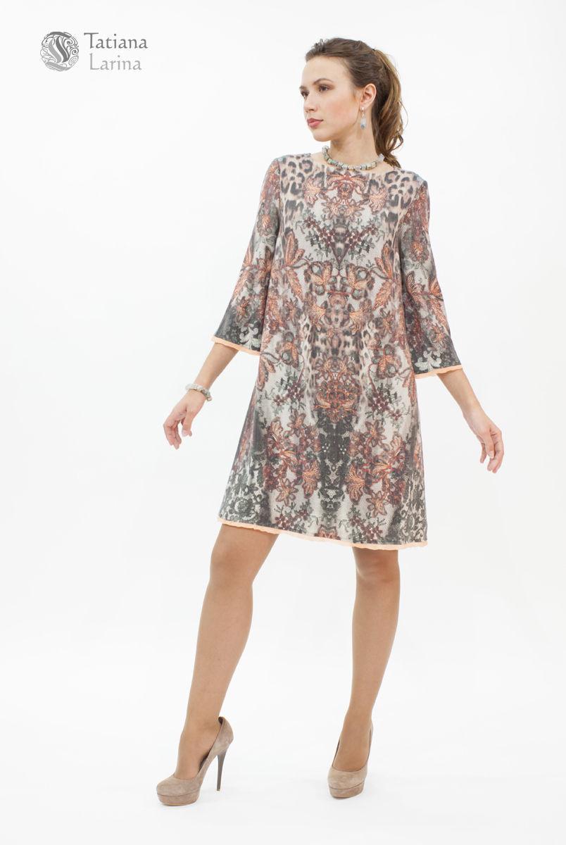 Платье с гепардом