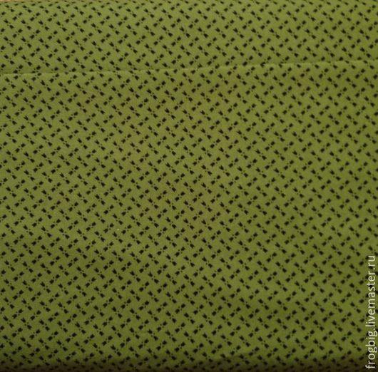 Шитье ручной работы. Ярмарка Мастеров - ручная работа. Купить Ткань для пэчворка и шитья 92. Handmade. Тёмно-зелёный