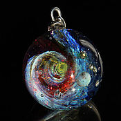 Украшения handmade. Livemaster - original item Pendant ball Gravitational waves. Galaxy, planet. Cosmic Jewelry. Handmade.
