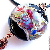 Украшения handmade. Livemaster - original item Pendant in lampwork technique.. Handmade.