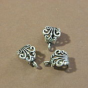 Материалы для творчества handmade. Livemaster - original item Bail pendant holder, antique silver. for PCs. Handmade.