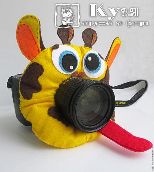 Аксессуары для фотосессий ручной работы. Ярмарка Мастеров - ручная работа. Купить Игрушка на объектив Жираф. Handmade. Желтый, для фотосессии