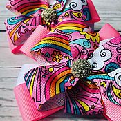 Украшения handmade. Livemaster - original item The bow of REP ribbons