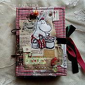 """Книги для рецептов ручной работы. Ярмарка Мастеров - ручная работа Поваренная книга """"Кулинарные секреты муми-мамы"""", с вышивкой. Handmade."""