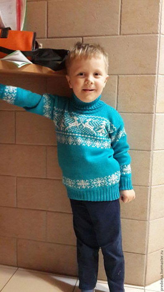 """Одежда унисекс ручной работы. Ярмарка Мастеров - ручная работа. Купить детский свитер """"Олени""""2. Handmade. Чёрно-белый"""
