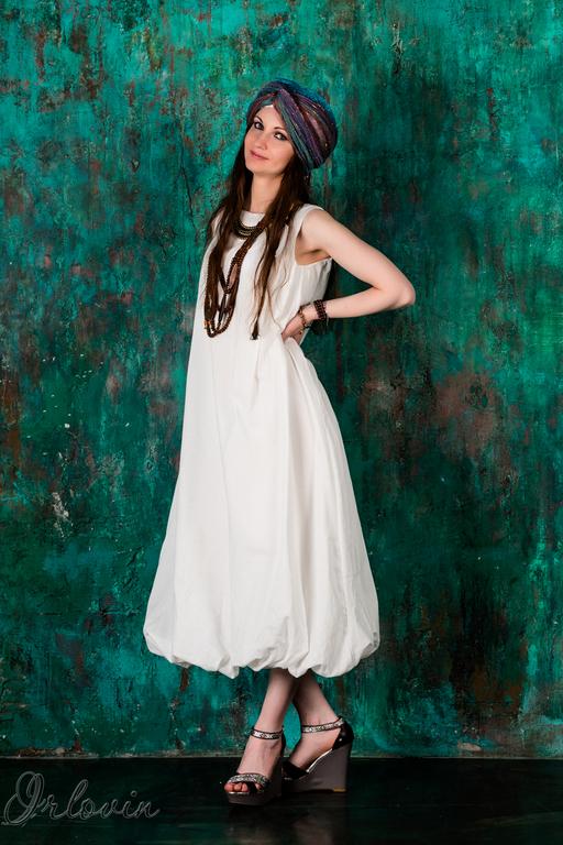 """Платья ручной работы. Ярмарка Мастеров - ручная работа. Купить Платье-баллон из коллекции """"Аравия"""". Handmade. Разноцветный, белое платье"""