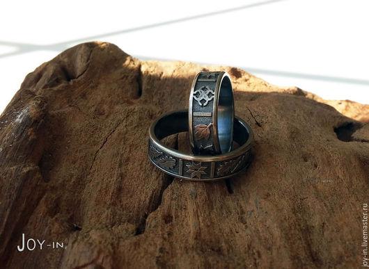 """Кольца ручной работы. Ярмарка Мастеров - ручная работа. Купить """"Оберег"""" серебряное кольцо со славянской символикой. Handmade. Кольцо"""