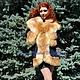 """Верхняя одежда ручной работы. Ярмарка Мастеров - ручная работа. Купить Пальто с мехом лисы """"Ночное небо"""". Handmade."""
