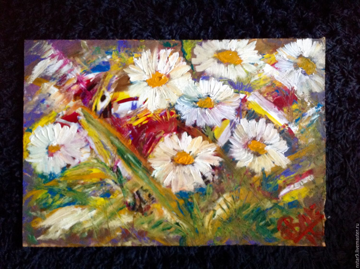 Floral song.Oil(30х40)Frame as a gift!, Pictures, Moscow,  Фото №1