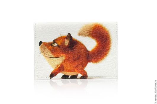 """Обложки ручной работы. Ярмарка Мастеров - ручная работа. Купить Обложка на паспорт """"Рыжая лиса"""". Handmade. Рыжий, стильная обложка"""