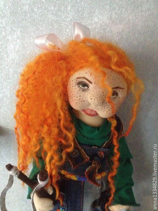 """Коллекционные куклы ручной работы. Ярмарка Мастеров - ручная работа. Купить Текстильная кукла ручной работы  """"Маленькая Вредина"""". Handmade."""