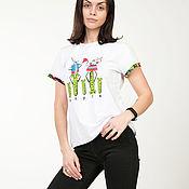 T-shirts handmade. Livemaster - original item T-shirt RS Rabbit and carrots. Handmade.