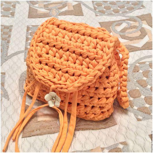 Детские аксессуары ручной работы. Ярмарка Мастеров - ручная работа. Купить Оранж мини-рюкзачок. Handmade. Оранжевый, рюкзак детский