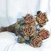 Подарки к праздникам ручной работы. Ярмарка Мастеров - ручная работа Букет из медных роз. Handmade.
