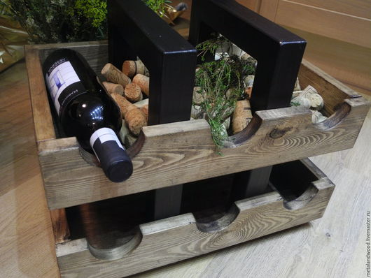 Мебель ручной работы. Ярмарка Мастеров - ручная работа. Купить Подставка для бутылок. Handmade. Комбинированный, бутылочница