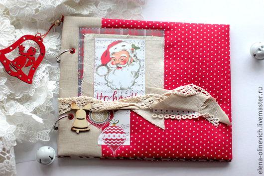 Новый год 2017 ручной работы. Ярмарка Мастеров - ручная работа. Купить Новогодний Альбом Санта. Handmade. Ярко-красный