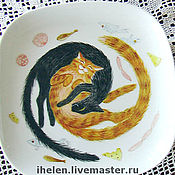 Посуда handmade. Livemaster - original item Tea Sets with Cats. Handmade.