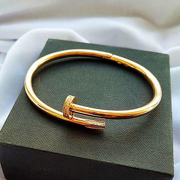 Украшения ручной работы. Ярмарка Мастеров - ручная работа Браслеты: Cartier браслет гвоздь из золота 585 пробы. Handmade.