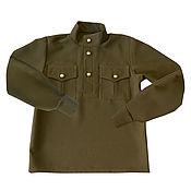 Рубашки ручной работы. Ярмарка Мастеров - ручная работа Гимнастерка военная детская. Handmade.