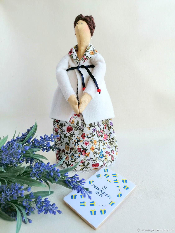 Подари подарок куклу ручной работы маме белый кремовый, Подарки, Москва, Фото №1